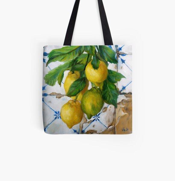 Citrons & Azulejos Tote bag doublé