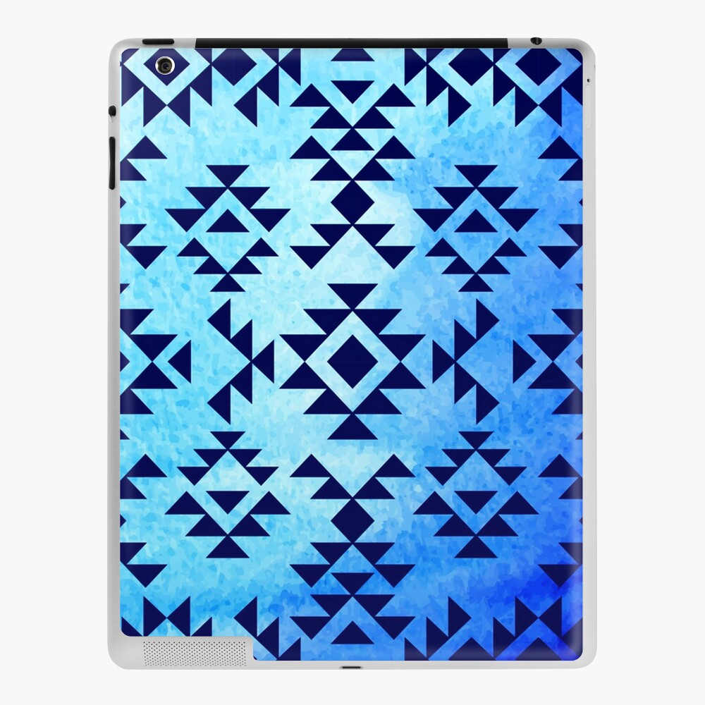 All Models Available The Abstract Blue and Green Triangle Aztec Skin Set for the Apple iPad