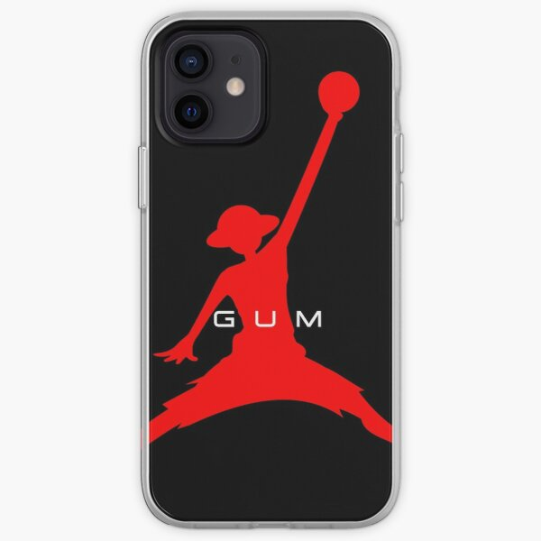 Luffy (rouge sur noir) Coque souple iPhone