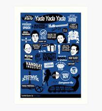 Seinfeld Quotes Art Print