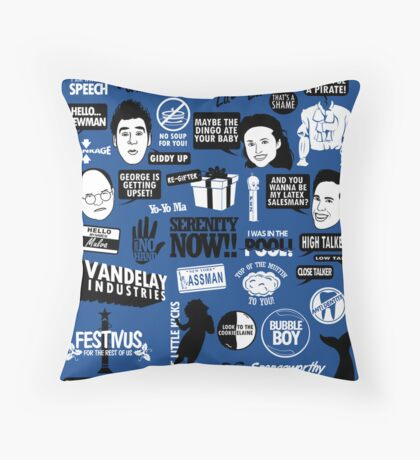 Seinfeld Quotes Throw Pillow