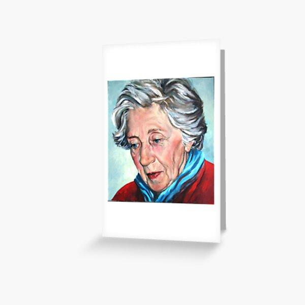 Winter Portrait, Sophia Greeting Card
