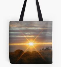 Wagoe Beach WA Sunset Star Tote Bag