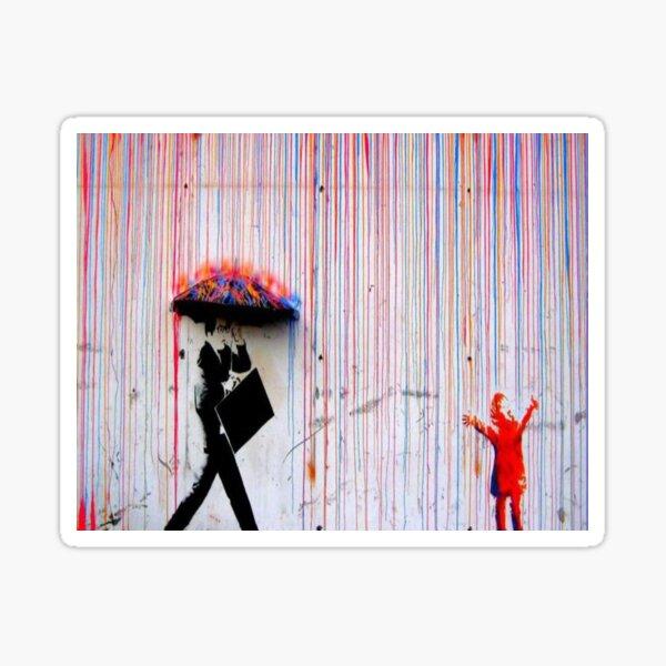 Banksy Rainbow Rain Sticker