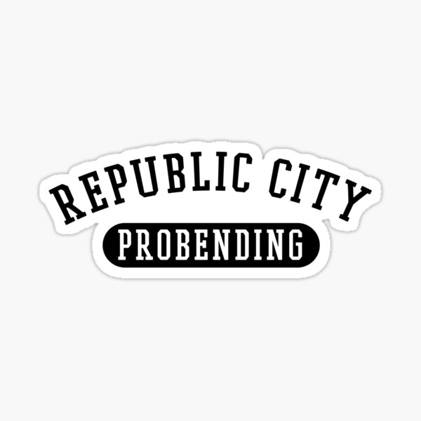 Republic City Probending (Black) Sticker