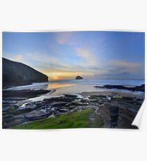 Cornwall: November Sunset at the Strand Poster