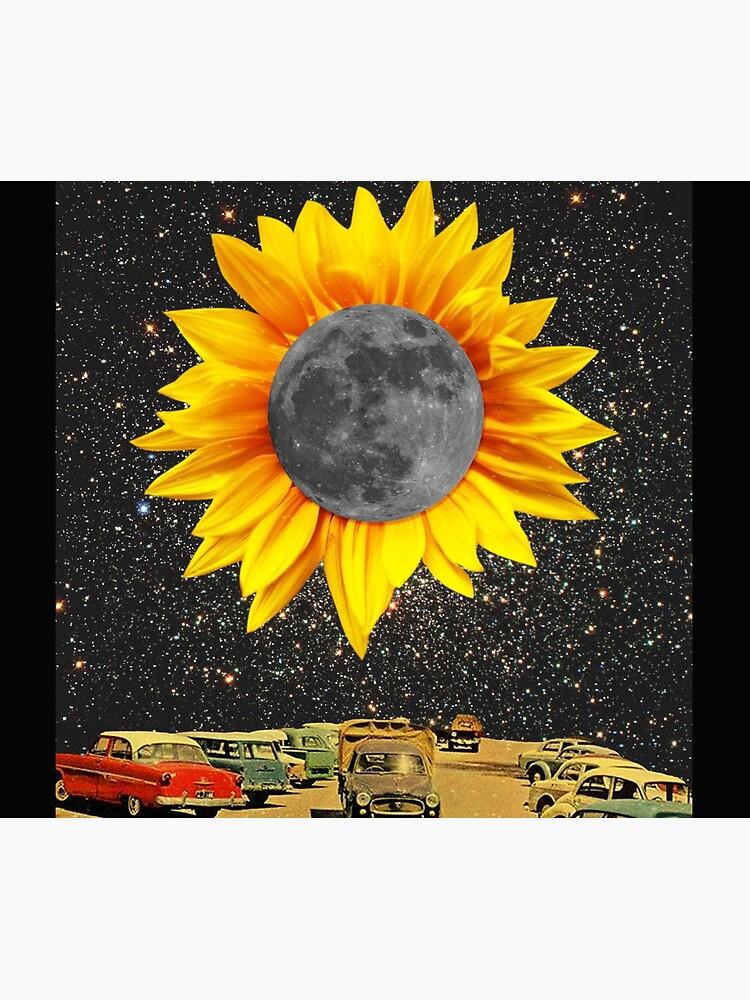 Sunflower Moon at Night  by thepalmstudio