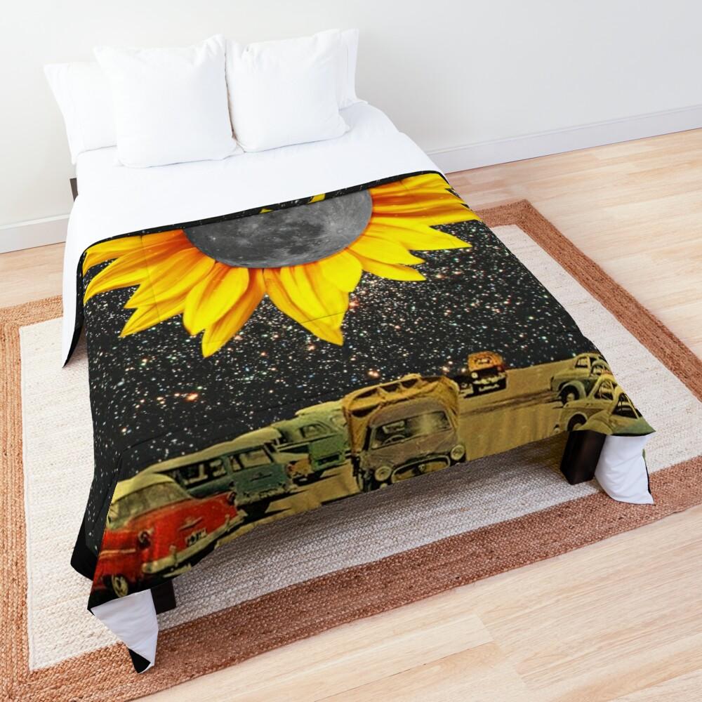 Sunflower Moon at Night  Comforter