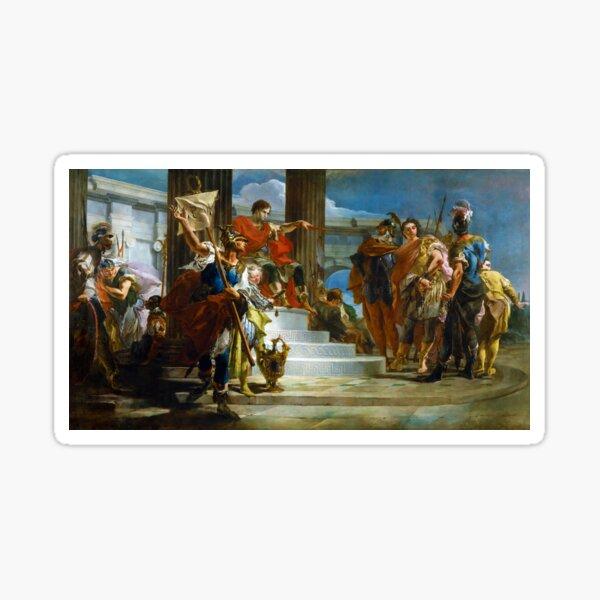 Scipio Africanus Freeing Massiva by Giovanni Battista Tiepolo (1721) Sticker