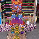 Altar for the dead persons at the principal market in Puerto Vallarta by Bernhard Matejka