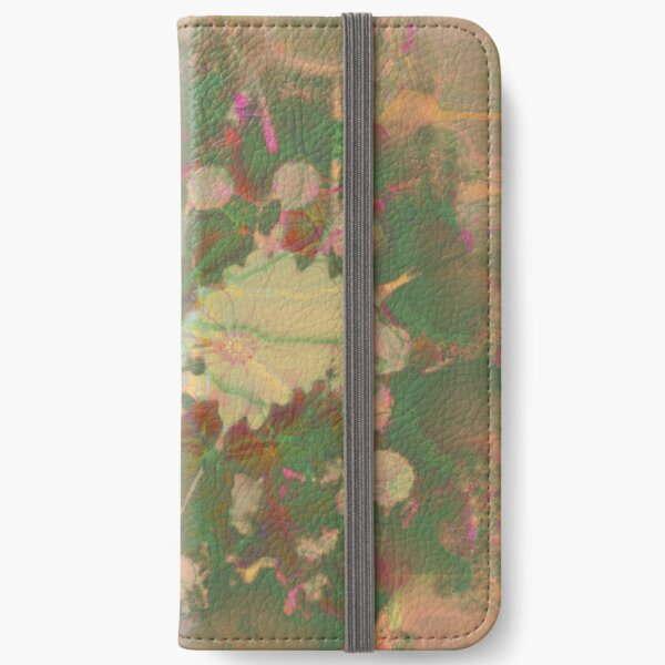 Fractalized floral abstraction iPhone Wallet