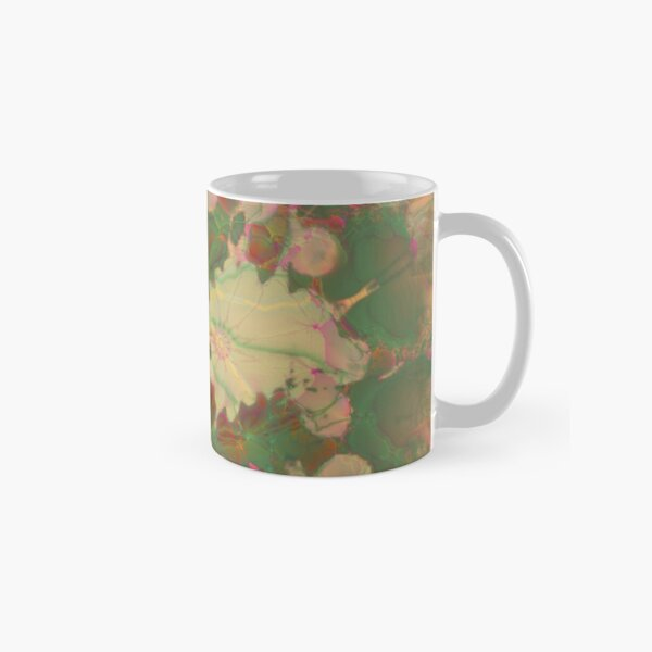 Fractalized floral abstraction Classic Mug