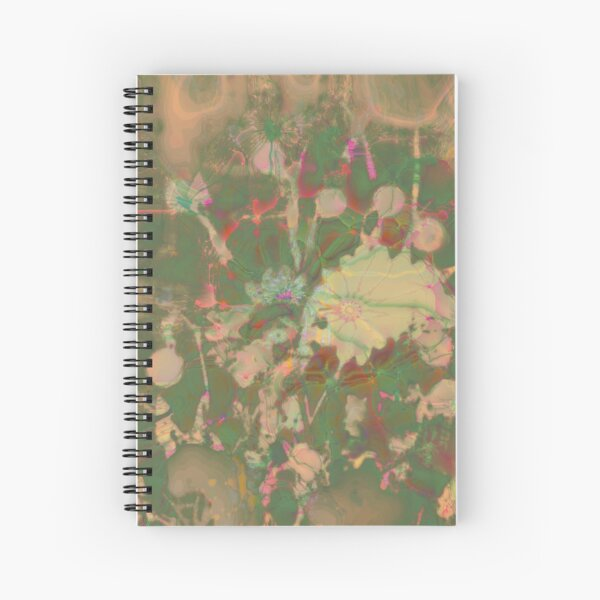 Fractalized floral abstraction Spiral Notebook