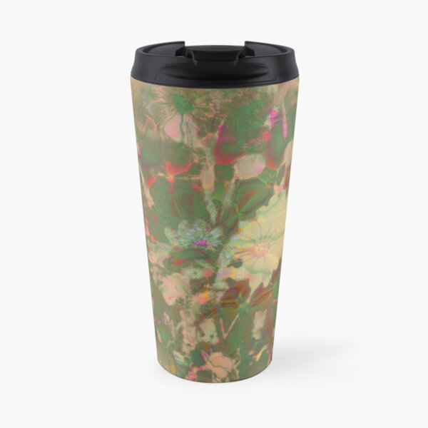 Fractalized floral abstraction Travel Mug