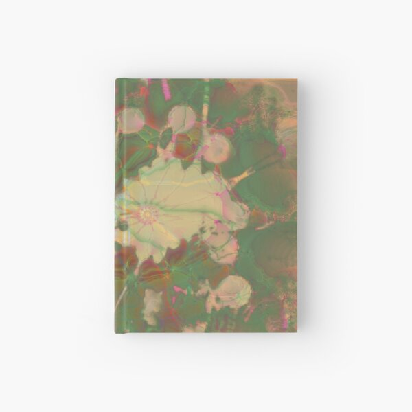 Fractalized floral abstraction Hardcover Journal