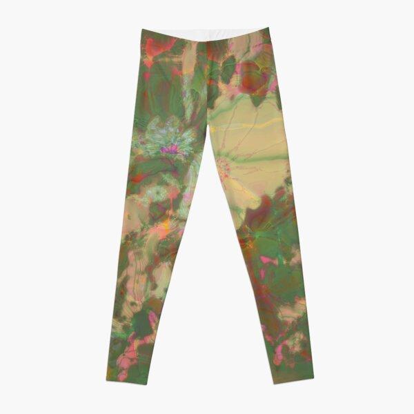 Fractalized floral abstraction Leggings