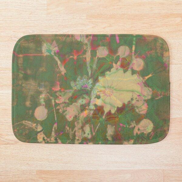 Fractalized floral abstraction Bath Mat