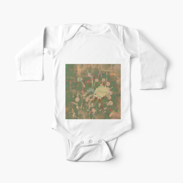 Fractalized floral abstraction Long Sleeve Baby One-Piece