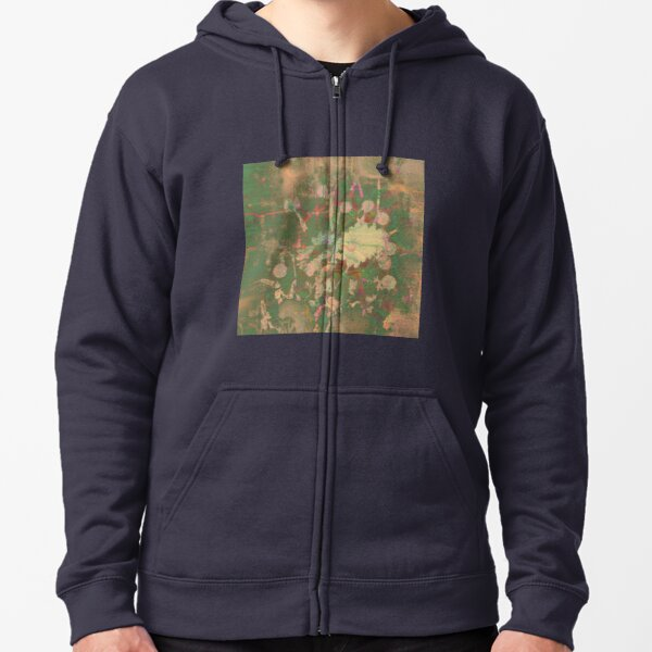 Fractalized floral abstraction Zipped Hoodie