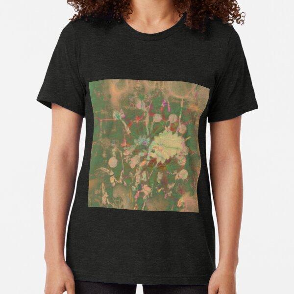 Fractalized floral abstraction Tri-blend T-Shirt