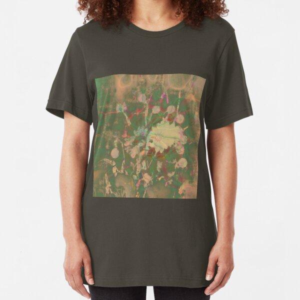Fractalized floral abstraction Slim Fit T-Shirt