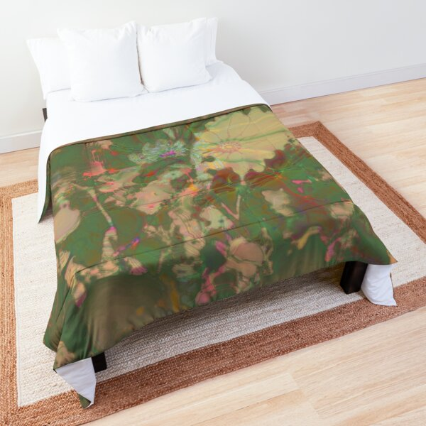 Fractalized floral abstraction Comforter
