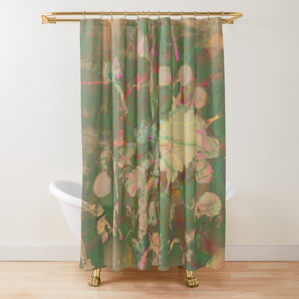 Fractalized floral abstraction Shower Curtain