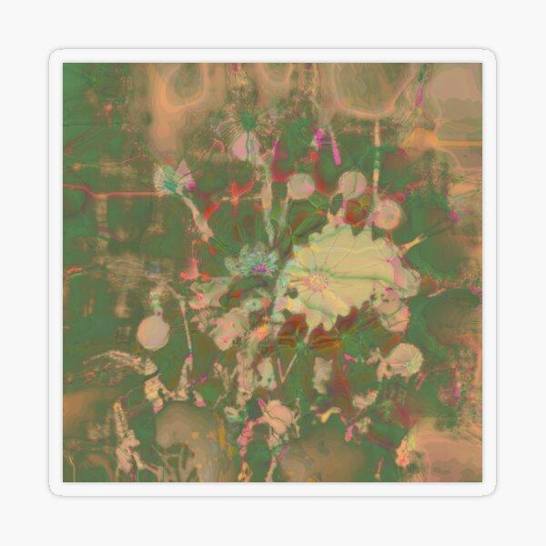 Fractalized floral abstraction Transparent Sticker