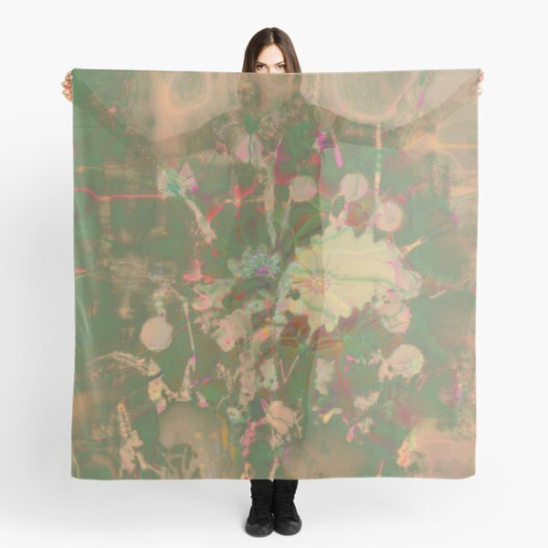 Fractalized floral abstraction Scarf