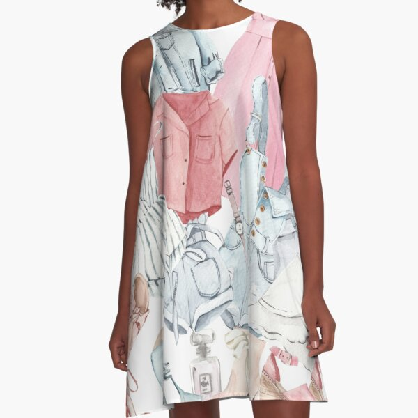 Boutique cult in summer colors A-Line Dress