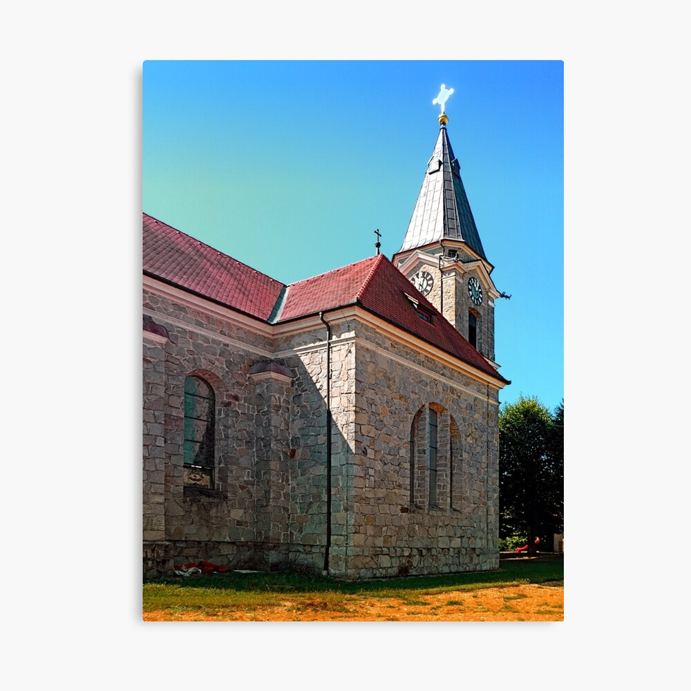 The village church of Eggendorf 2 Canvas Print