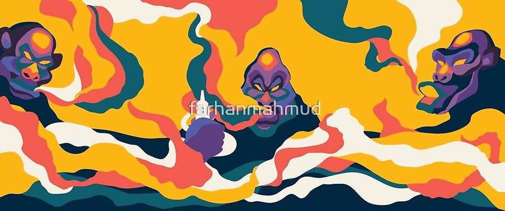 Smoking Apes Version 02 by farhanmahmud