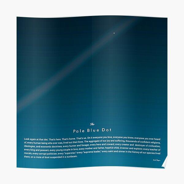Carl Sagan The Pale Blue Dot Print Poster