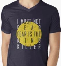 Dune - The Litany Against Fear (White) Mens V-Neck T-Shirt