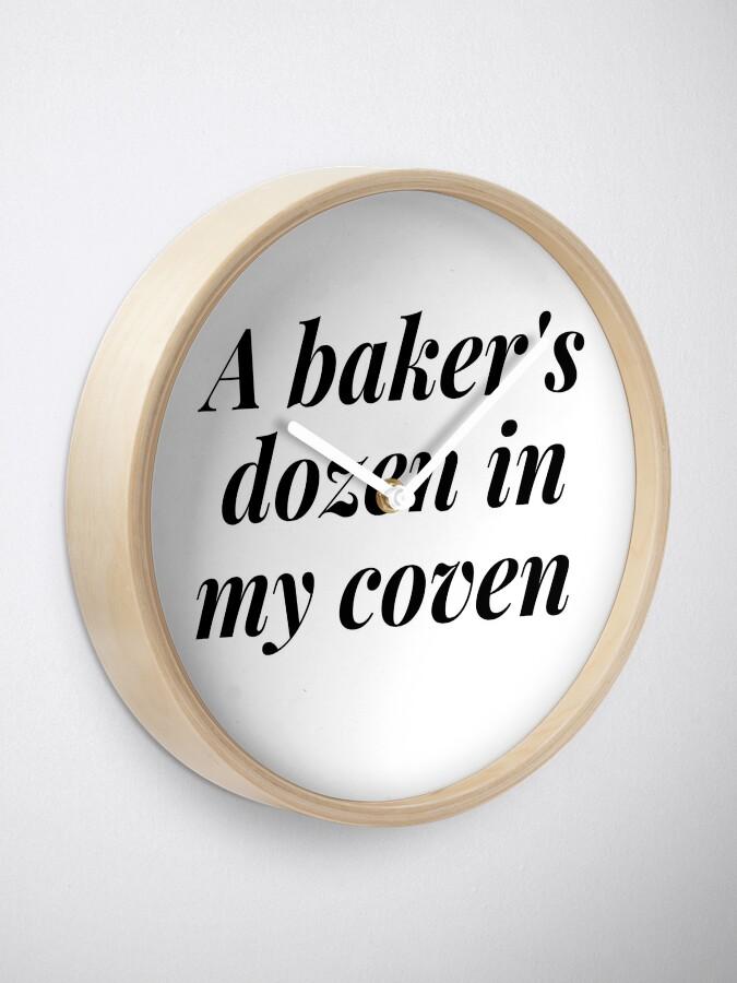 Alternate view of A BAKER'S DOZEN IN MY COVEN Clock
