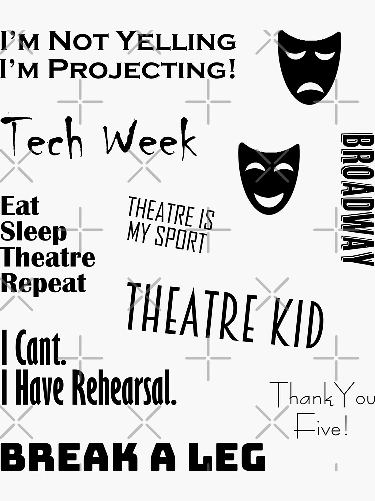 Theatre Sticker Set by TheHobbyGirl