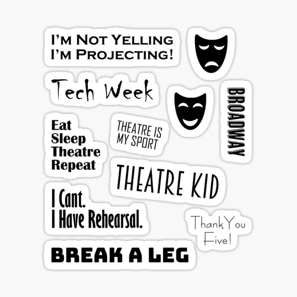 Theatre Sticker Set Sticker