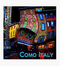Wacky Como, Italy Photographic Print