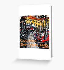 Wacky Lugano, Switzerland Greeting Card