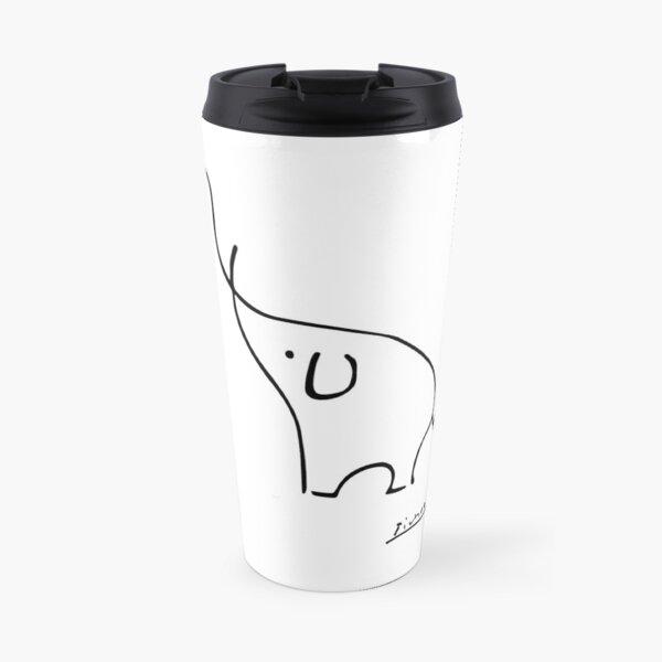 Picasso Elephant Line Art, Animals Designs for Wall Art, Prints, Posters, Men, Women, Kids Travel Mug
