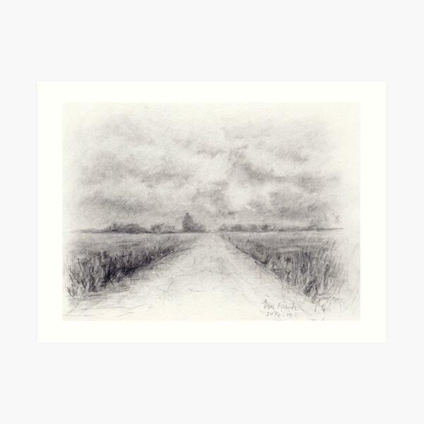 Hazy landscape Art Print