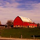 A Red Barn............in fall...... by Larry Llewellyn