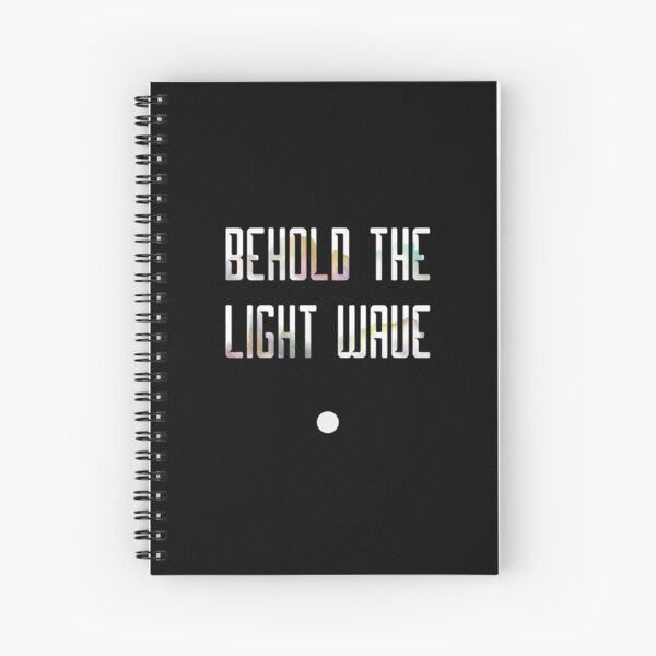 Behold the Light Wave Spiral Notebook