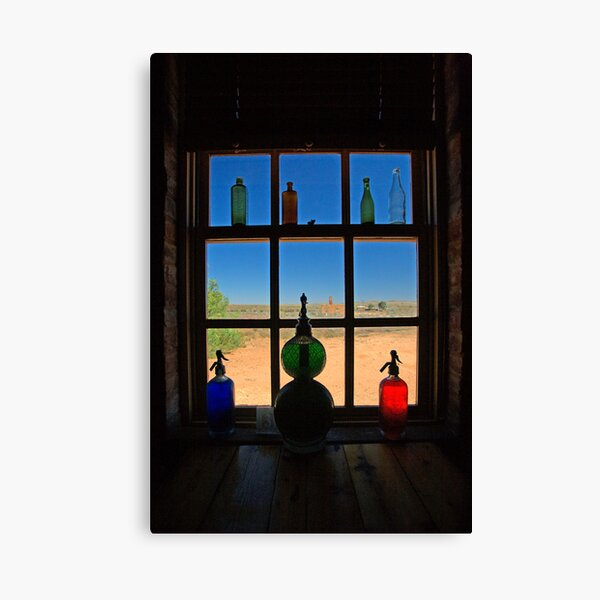 Bottles and Glass Canvas Print