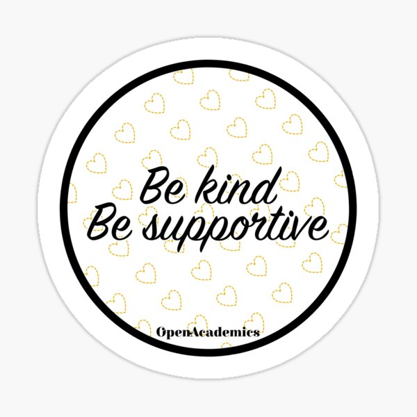 OpenAcademics Be kind Sticker