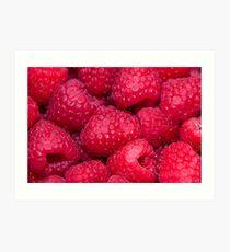 Many Raspberries Art Print