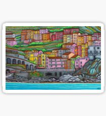 Colours of Manarola Sticker