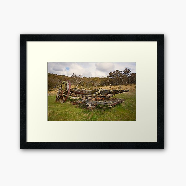 Old Cart, Coolamine Homestead, Kosciuszko National Park Framed Art Print