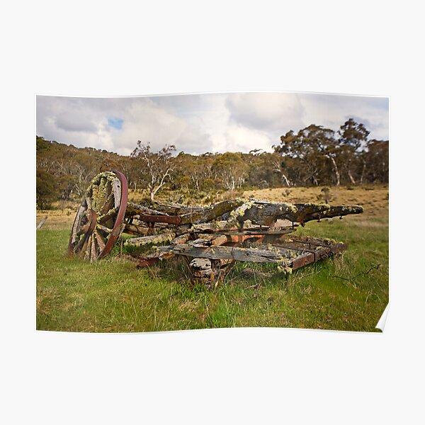 Old Cart, Coolamine Homestead, Kosciuszko National Park Poster