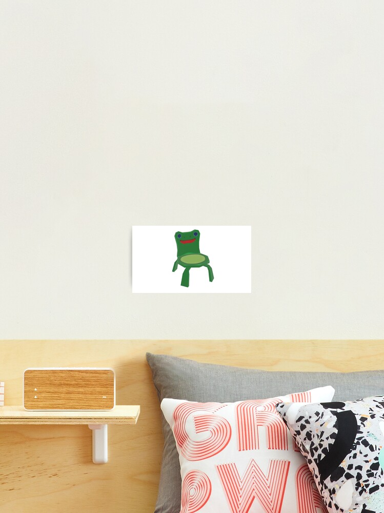 Animal Crossing New Horizons Froggy Chair Sticker Photographic